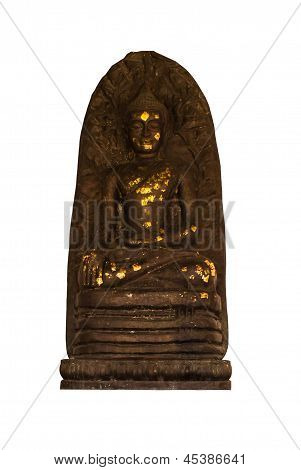 Isolated - Buddha Statue In Wat Phra That Haripunchai