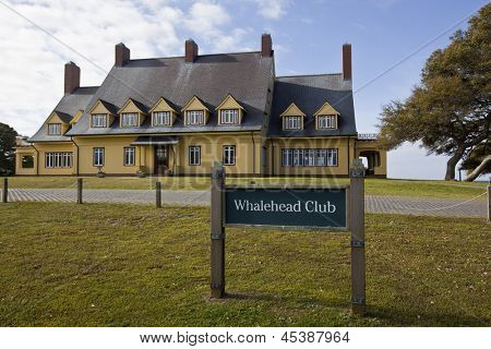 The historic Whalehead Club in Corolla, North Carolina has been restored to its original grandeur.  Built in the 1920's, it is now a museum