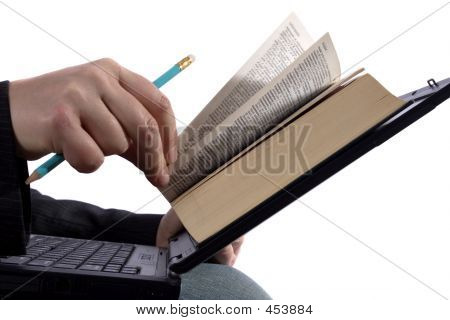 Businessman Reading An E-book