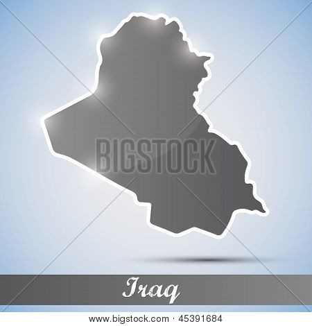 shiny icon in form of Iraq