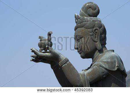 Buddha statue at Po Lin Buddhist Monastery