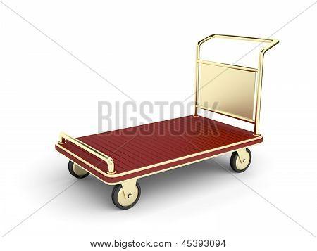 Golden Baggage Cart