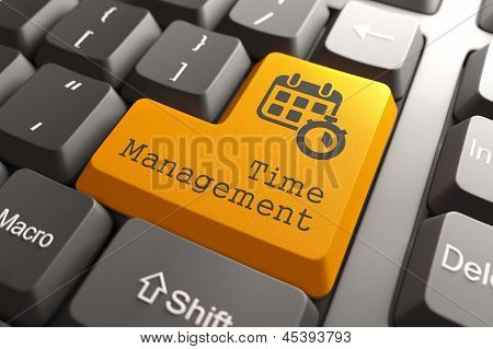 """Keyboard with """"Time Management"""" Button."""