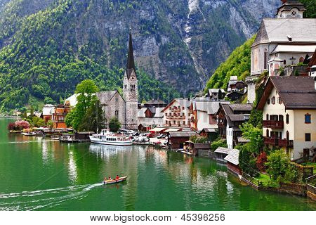 Hallstatt - small pretty pearl of Alps. Austria