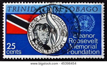 Postage Stamp Trinidad And Tobago 1965 Eleanor Roosevelt