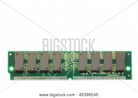 Computer Memory Card Isolated On White