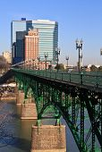 stock photo of knoxville tennessee  - A view of downtown Knoxville from the Gay Street Bridge - JPG