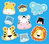 baby animals safari scrapbook