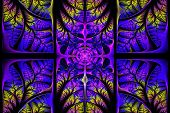 stock photo of triptych  - Fabulous fractal pattern - JPG