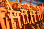 pic of inari  - Miniature souvenir Torii gates at Fushimi Inari Shrine in Kyoto - JPG