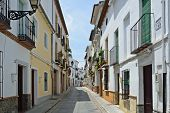 Sunny Street Of Spanish City Granada