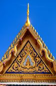 stock photo of isosceles  - Isosceles on Thai temple roof of Wat Phra Kaew in royal palace - JPG
