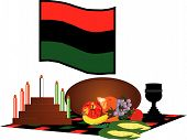 picture of unity candle  - items used to celebrate Kwanzaa from December 26  - JPG