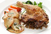 stock photo of canard  - confit de canard - JPG