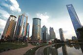 Lujiazui Finance&trade Zone Of Shanghai Landmark  City Landscape poster