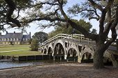 foto of whalehead club  - The boat basin footbridge at the Whalehead Club in Corolla - JPG