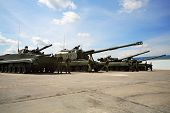 ZHUKOVSKY - JUNE 25: Tanks at second International Forum Engineering Technologies 2012, on June 25,