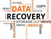 stock photo of corruption  - A word cloud of data recovery related items - JPG