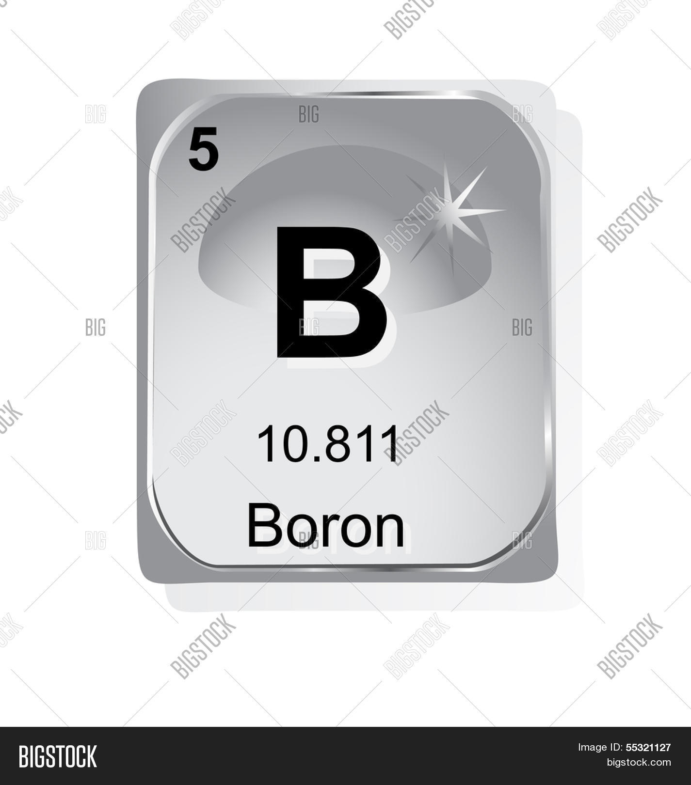 Boron chemical element atomic vector photo bigstock boron chemical element with atomic number symbol and weight buycottarizona