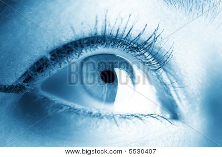 Young Woman Eye Closeup