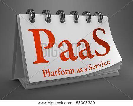Desktop Calendar with PAAS Concept.
