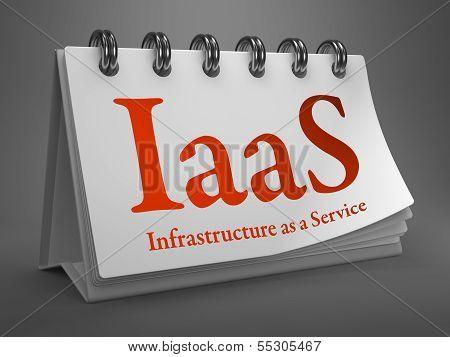 Desktop Calendar with IAAS Concept.