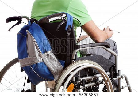 Student On Wheelchair