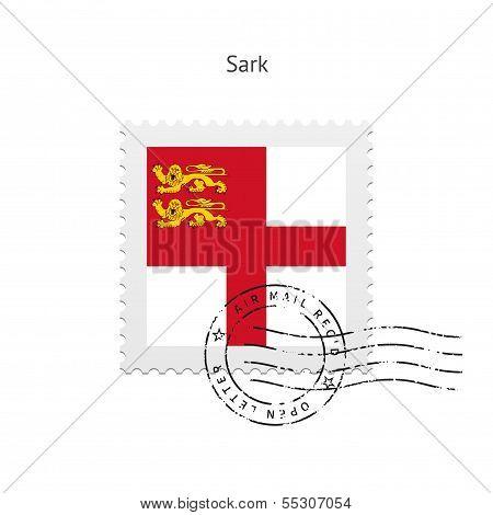 Sark Flag Postage Stamp.