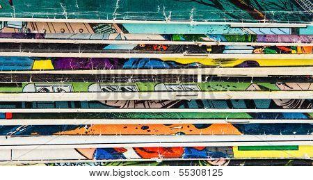 Vintage Comic Book Background Texture