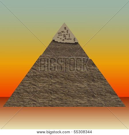 Great Pyramid Of Illustrations