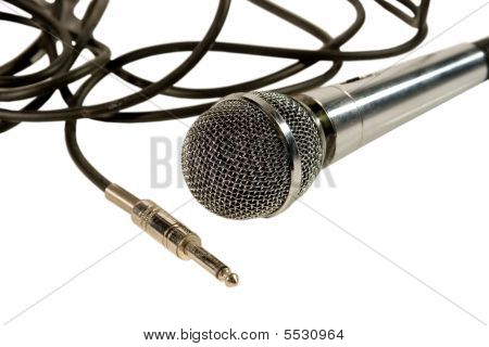 Microphone With Cables And A Plug