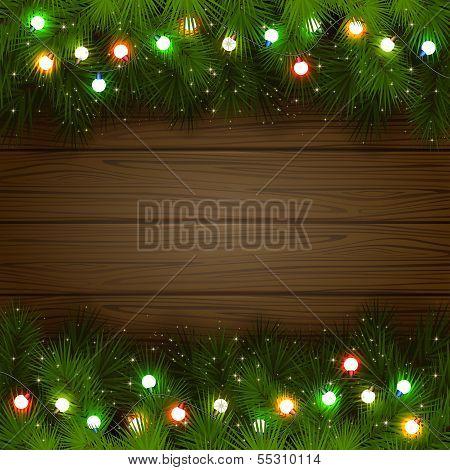 Multicolored Christmas garland