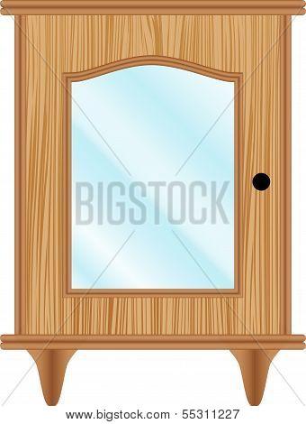 Dresser With Glass