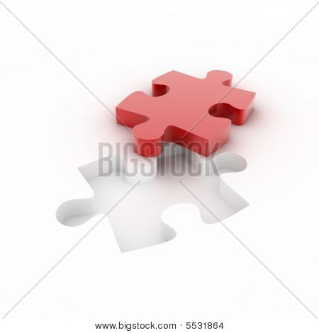 Red Cutted Puzzle