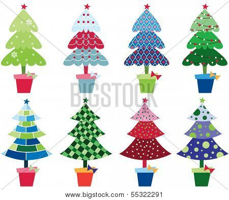 Patterned Christmas Trees