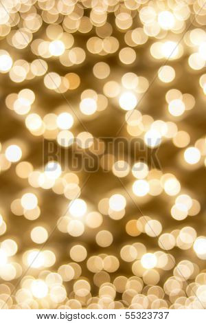 Old Theater Marquee Ceiling Blinking Lights Bokeh
