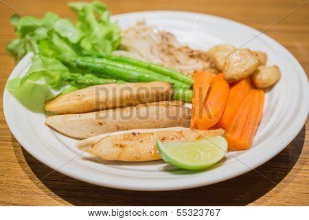 Fried Vegetables Garlic Mushroom Carrot