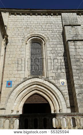 Entrance to the Basilica of St-Saveur in Rocamadour, France