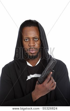African Hooligan Or Gangster With A Gun