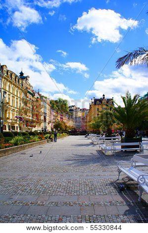 Center of Karlsbad (Karlovy Vary)
