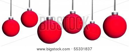 Many Red Christmas Tree Balls