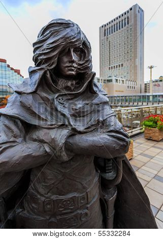 Galaxy Express 999 Sculptures at Kokura Station
