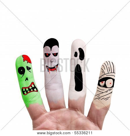 Halloween Concept - Painted Finger