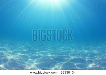 Underwater Ocean Background Photo
