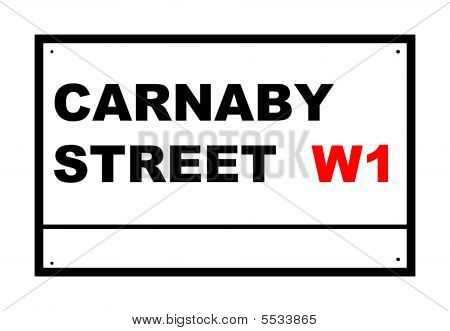 Carnaby Street Road Sign