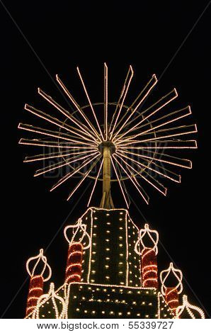 Christmas Fair Light Up Wheel