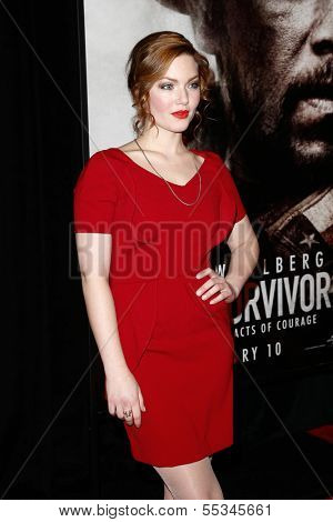 NEW YORK-DEC 3: Actress Holliday Grainger attends the premiere of