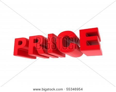 Price - Red Text Isolated on White.