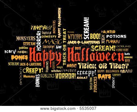 Happy Halloween Words