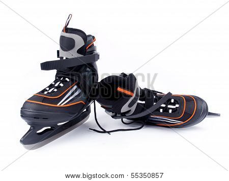 Pair Of Man Ice Hockey Skates